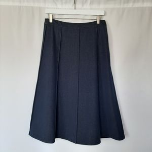 MAG Denim Style Pleated Skirt with Lining
